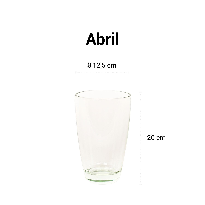 Medidas del jarrón Abril